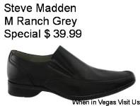 Steve Madden Mens M-Ranch Slip-On Dress Casual Grey