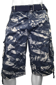 Men s Big and Tall Twill Camouflage Cargo Shorts Sizes 44-48 New Blue 2-Tone 1a3158bbb672
