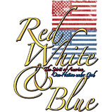 Custom Heat Transfer - Red, White & Blue Inspirational 9x12