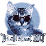 Custom Heat Transfer - It's All About Me - Cat 10x11