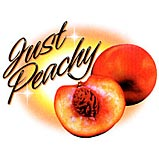 Custom Heat Transfer - Just Peachy 7x9-peachy, custom heat transfer, iron-on, iron on, custom t-shirt, t shirt, tees