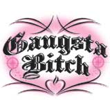 Custom Heat Transfer - Gangsta Bitch 7x9-cool, airbrush, heat transfer, iron-on, iron on, t-shirt, t shirt, tees