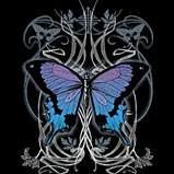 Custom Heat Transfer - Goth Butterfly 10x12