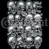 Custom Skulls Heat Transfer T Shirt