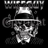 Custom Heat Transfer - Wiseguy Skeleton Mobster 12x13