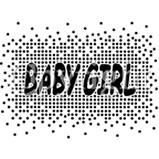 Custom Heat Transfer - Baby Girl Foil 6x8-baby girl, custom heat transfer, iron-on, iron on, custom t-shirt, t shirt, tees