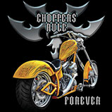 Custom Heat Transfer - Choppers Rule Yellow Bike 9x11