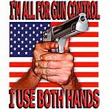 Custom Heat Transfer - Gun Control/Both Hands 12x12