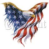 Custom Heat Transfer - Eagle American Flag 12x13