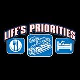 Custom Heat Transfer - Life's Priorities - Racing 7x13