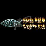 Custom Heat Transfer - This Fish Won't Fry - Ichthus 8x12