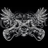 Custom Heat Transfer - Rock N Roll - Skull Guitars 12x12