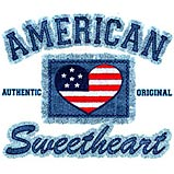 Custom Heat Transfer - American Sweetheart Denim 8x8