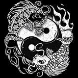 Custom Heat Transfer - Yin Yang Koi 10x10