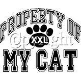 Custom Heat Transfer - Property/My Cat 10x13