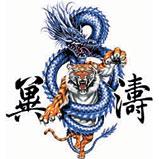 Custom Heat Transfer - Dragon & Tiger 9x9