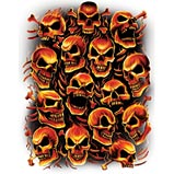 Custom Heat Transfer - Fiery Skulls 16x20