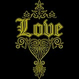 Custom Heat Transfer - Love - Gold Foil 7x11