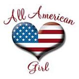 Custom Heat Transfer - American Girl Heart 10x12-All american girl, heart, custom heat transfer, iron-on, iron on, custom t-shirt, t shirt, tees