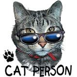 Custom Heat Transfer - Cat Person 9x10