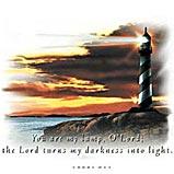 Custom Heat Transfer - Lighthouse/Lord 12x13