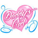 Custom Heat Transfer - Daddy's Girl 7x9-daddy's girl, custom heat transfer, iron-on, iron on, custom t-shirt, t shirt, tees