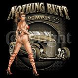 Custom Heat Transfer - Nothing Butt Hot Rods 12x13