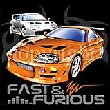 Custom Heat Transfer - Fast & Furious 12x13