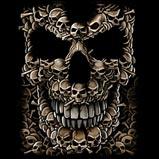 Custom Heat Transfer - Skulls Face (Front) 15x19