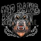 Custom Heat Transfer - Top Dawg - Rott 12x13
