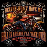 Custom Heat Transfer - Heaven & Hell Skeleton Rider 15x15