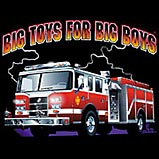 Custom Heat Transfer - Big Toys-Fire Engine 10x13