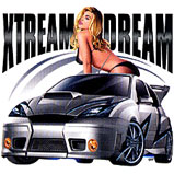 Custom Heat Transfer - Xtream Dream-Car/Woman 13x18