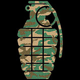 Custom Heat Transfer - Grenade Camo Flock 6x8-grenade camo flock, custom heat transfer, iron-on, iron on, custom t-shirt, t shirt, tees