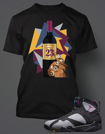 T-shirt 2 Match Retro Jordan Bordeaux 7s