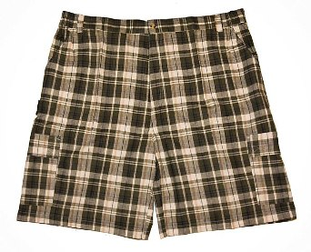 Greystone Plaid Cargo Short