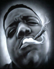 Custom Heat Transfer - Notorious BIG 11 x 14