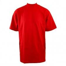 1 New PROCLUB men's blank COMFORT T-shirt PRO CLUB plain Red