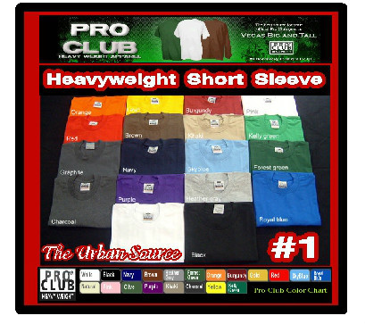 12 Pack PRO CLUB PROCLUB MEN/'S HEAVY WEIGHT SHORT SLEEVE T-SHIRT one dozen