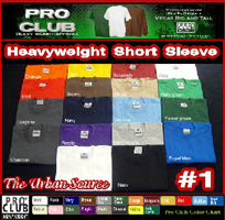 Pro Club Heavyweight T Shirts 1/2 Dozen Special Size 7Xl