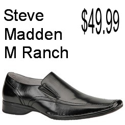 Steve Madden Mens M-Ranch Slip-On Dress Casual Black