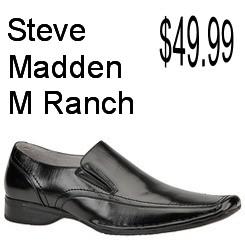 Steve Madden Mens M-Ranch Slip-On Dress Casual Black