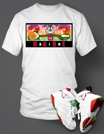 T-shirt To match Hare Air Retro Jordan Custom S/S White Tee