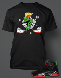 T-shirt to Match Retro Jordan Marvin The Martian 7s