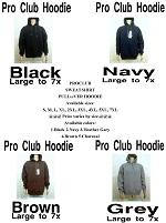 PRO CLUB Men's Pullover Sweatshirt Hoodie-PRO CLUB Men's Pullover Sweatshirt Hoodie