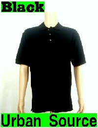 PROCLUB POLO button w/collar GOLF T-shirt BLACK S-5XL