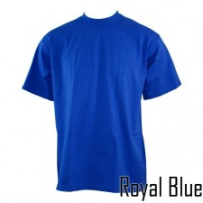 1 New PROCLUB men's blank COMFORT T-shirt PRO CLUB plain Royal Blue