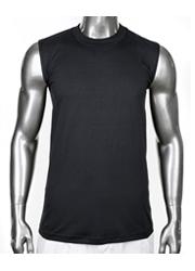 PROCLUB HEAVYWEIGHT SLEEVELESS T-SHIRT Plain Black MUSCLE T-Shirt