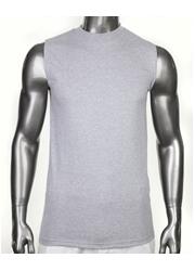 PROCLUB HEAVYWEIGHT SLEEVELESS T-SHIRT Gray Plain Muscle Tank Top