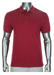 Pro Club Pique Polo Golf T-Shirt Burgundy